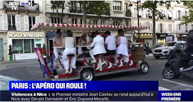 BFMTV news story about Cyclo-Cafe